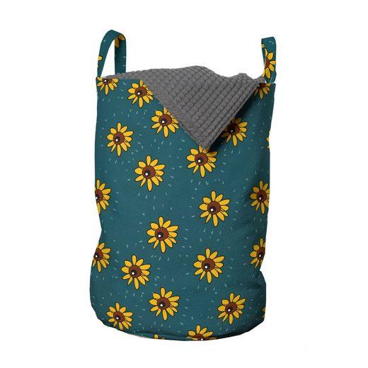 Abakuhaus Wäschesack »Wäschekorb mit Griffen Kordelzugverschluss für Waschsalons«, Sonnenblume Kinder Natur Kinder Stil