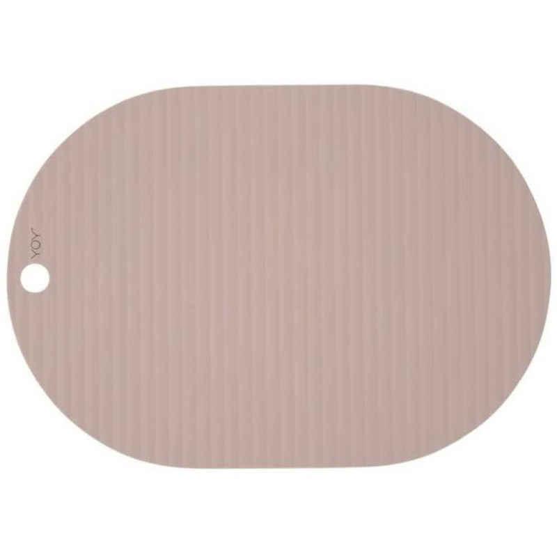Platzset, »Ribbo«, OYOY, (2er Set), Tischset Tischschutz Platzdecken Silikon Oval Unterlage Bastelunterlage Malunterlage