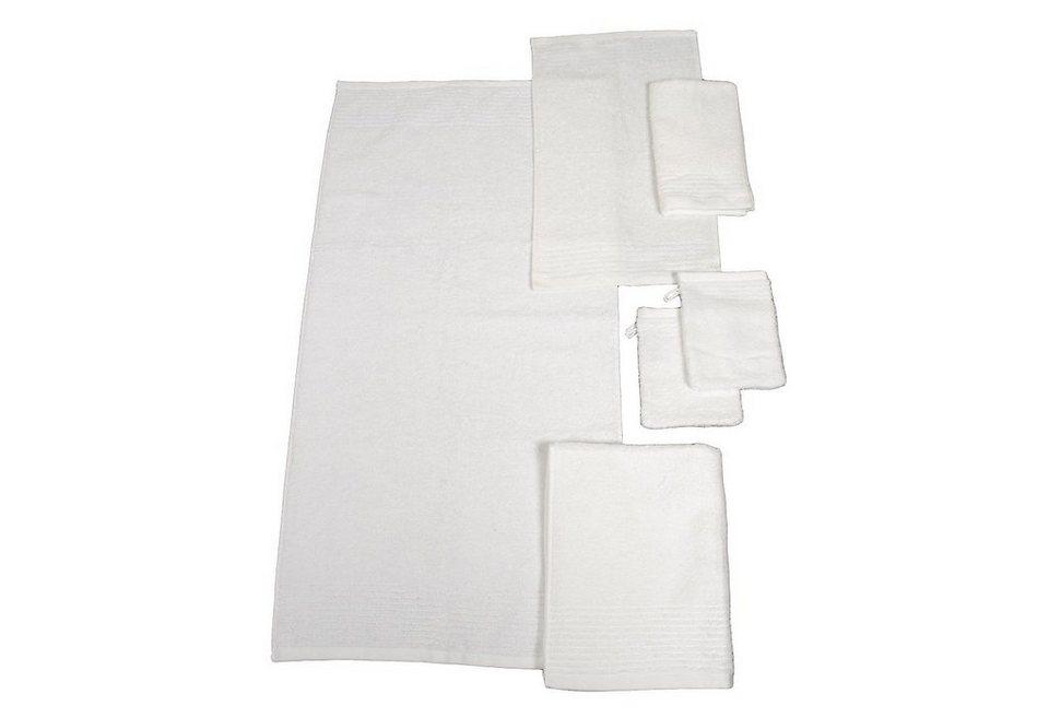 Handtuch Set, Dyckhoff, »Brillant«, mit Streifenbordüre in weiß