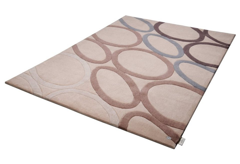 Teppich, Tom Tailor, »OVAL«, handgearbeitet in beige