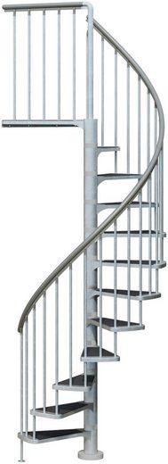 DOLLE Außentreppe »Gardenspin«, Ø: 125 cm, für Geschosshöhen bis 282 cm, TRIMAX®-Stufen
