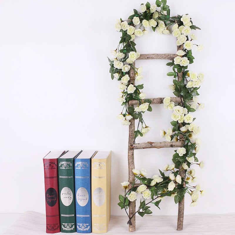 Kunstblume »69 Köpfe Künstliche Rosen 180cm Rattan Kunstblumen Seidenblumen Girlande Hochzeit Garten Deko« Rosen, Baesset