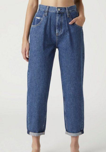 Hosen - Calvin Klein Jeans Tapered fit Jeans »Baggy Jean« mit Bundfalte, modisch zu krempeln ›  - Onlineshop OTTO