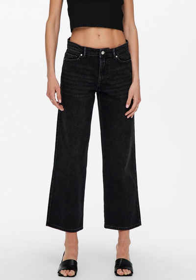 Only Weite Jeans »ONLSOPHIE LIFE MW WIDE ANK DNM«