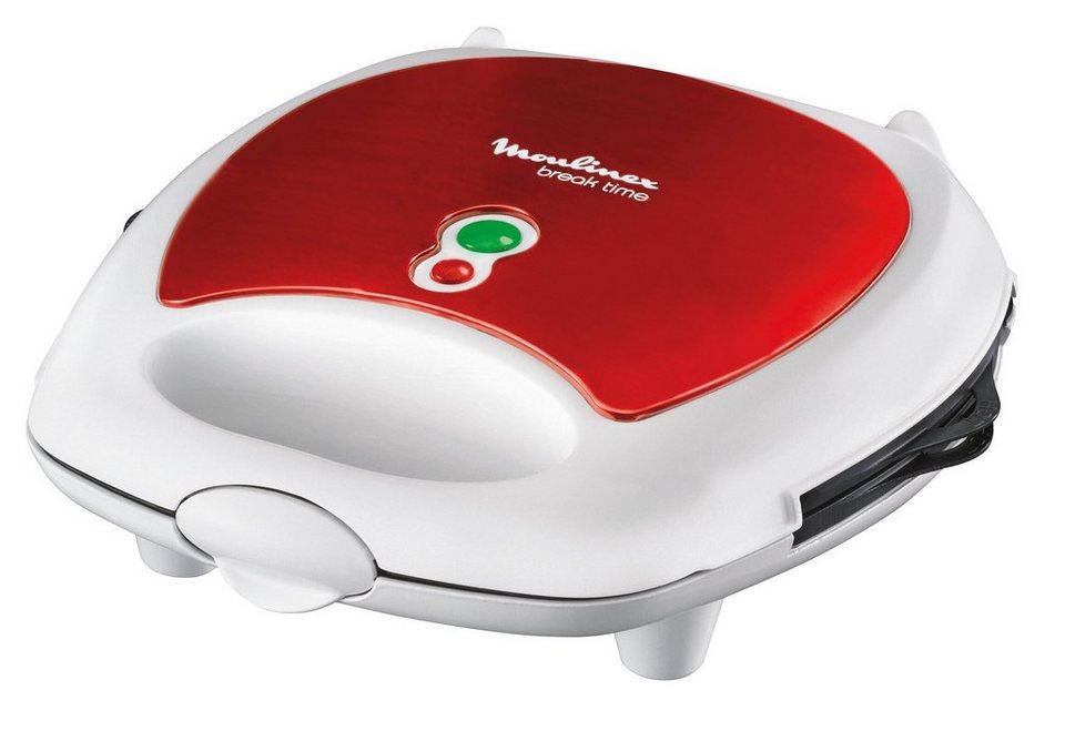 Moulinex 3-in-1 Snack-Kombigerät »Red Ruby SW6125«, 700 Watt in Metallic-Rot/Weiß