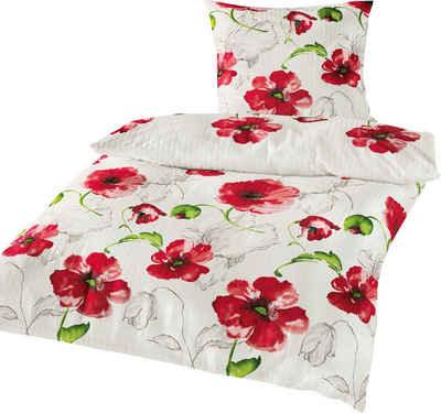 Bettwäsche »Red Flowers«, BIERBAUM, mit Mohnblumen