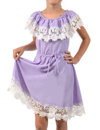 KMISSO Sommerkleid »Mädchen Kleid Schulterfrei mit Spitze« (1-tlg) bequem zu tragen