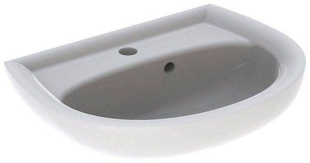 Waschtische - GEBERIT Waschbecken »Renova Nr. 1«, asymmetrisch, mit Hahnloch, mit Überlauf, weiß  - Onlineshop OTTO