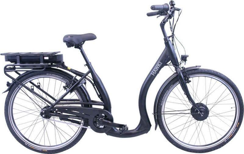 HAWK Bikes E-Bike »HAWK eCity Comfort«, 7 Gang Shimano Nexus 7-Gang Schaltwerk, Frontmotor 250 W