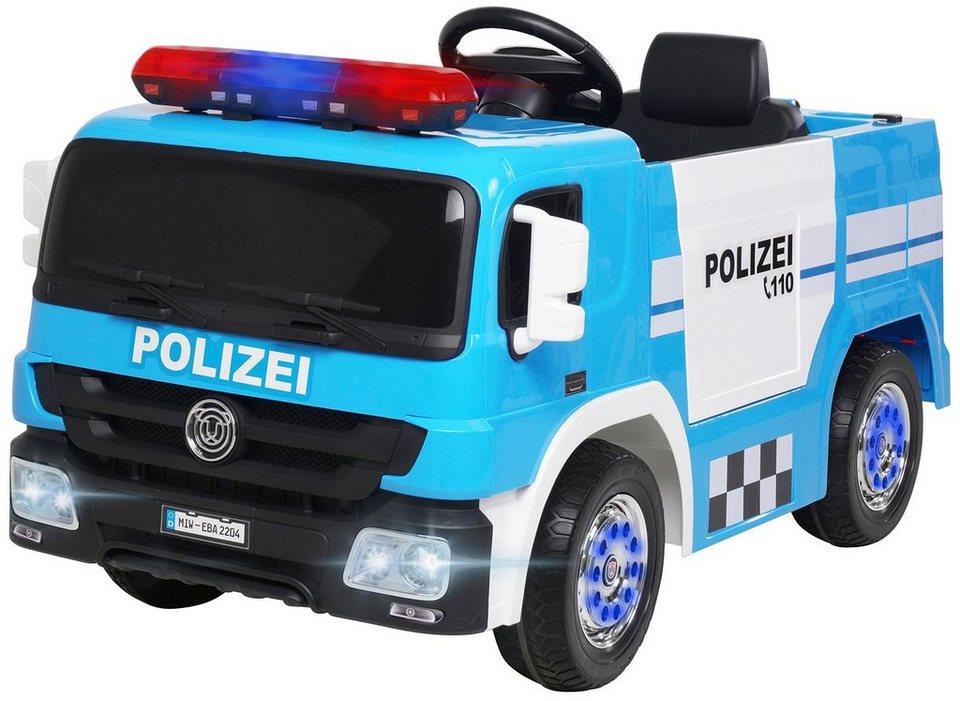 miweba elektrokinderauto »polizei sx1818 blau« für