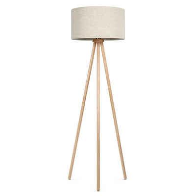 Tomons Stehlampe »Stativ aus Holz, Stehleuchte für das Wohnzimmer, Schlafzimmer und andere Zimmer, 148 cm Höhe«, Skandinavischer Stil, Energieklasse A++, Mit 8 W LED-Leuchtmittel