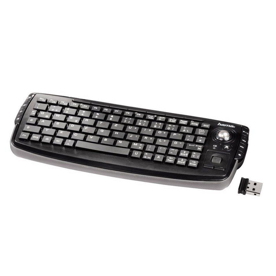 """Hama Wireless Tastatur kabellos für PS3 und Xbox360 """"Live"""" »schwarz« in Schwarz"""