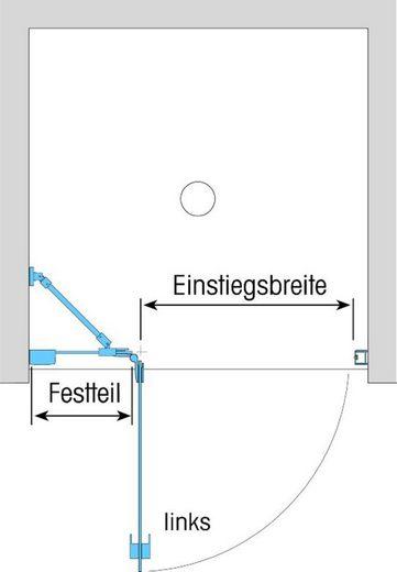 Dusbad Drehtür »Vital 1«, Einscheibensicherheitsglas, (1-St) Anschlag rechts, 87,5 cm
