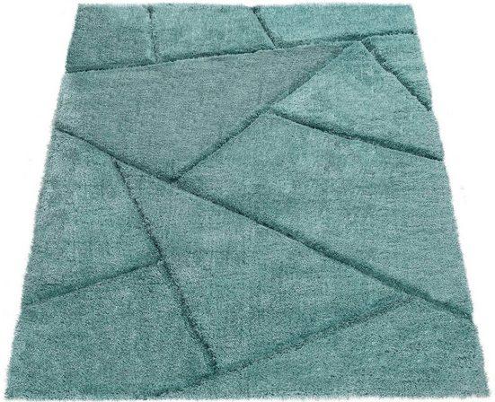 Hochflor-Teppich »Palma 334«, Paco Home, rechteckig, Höhe 45 mm, Hochflor-Shaggy mit 3D-Muster