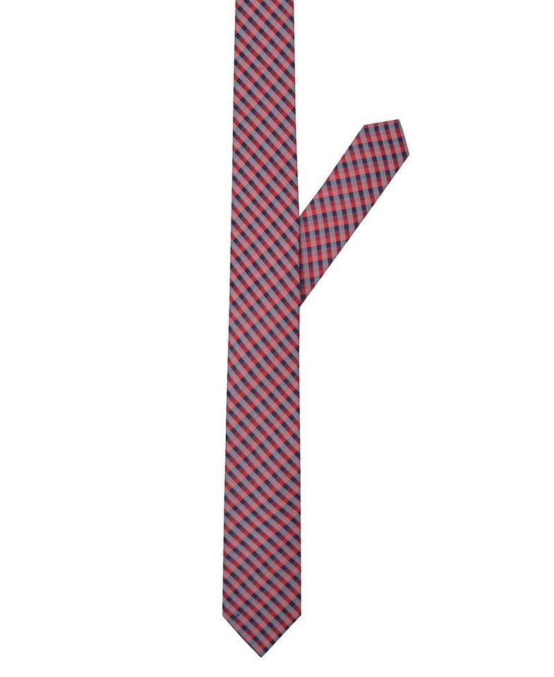 ETERNA Krawatte »schmal« in blau/rot