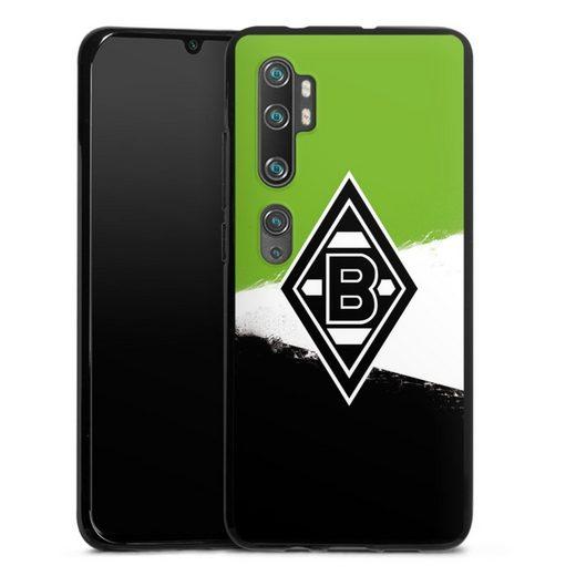 DeinDesign Handyhülle »Borussia Grunge Grün-Weiss-Schwarz« Xiaomi Mi Note 10 Pro, Hülle Gladbach Borussia Mönchengladbach