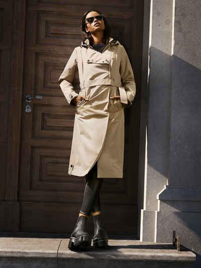 ALPENBLITZ Trenchcoat »Mailand« mit modisch breit überlappender Blende