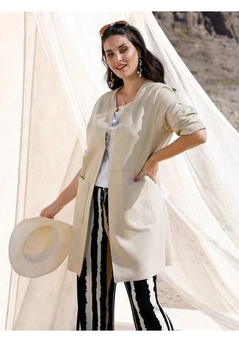 MIAMODA Ilgas švarkas su femininem Ausschnitt