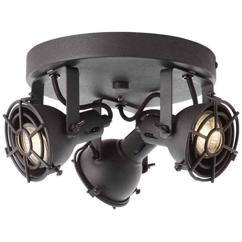 Brilliant Leuchten Deckenstrahler »Jesper«, LED Spotrondell 3flg schwarz korund
