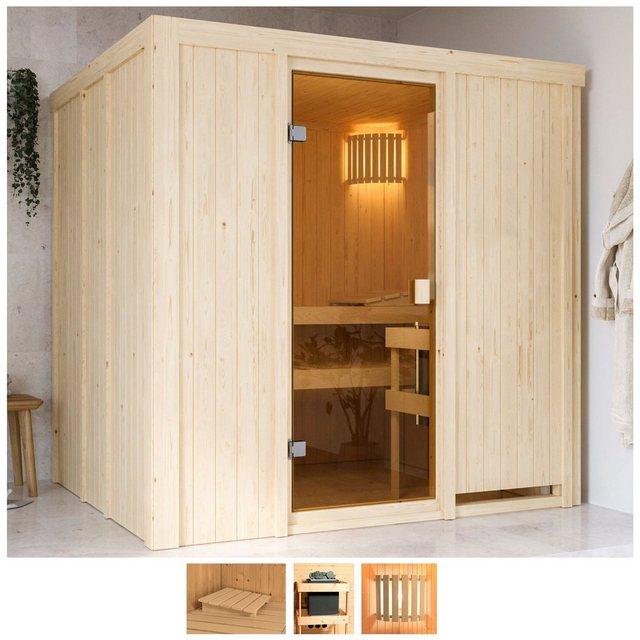 Saunen und Zubehör - Karibu Sauna »Gelsa«, BxTxH 196 x 178 x 198 cm, 68 mm, ohne Ofen  - Onlineshop OTTO