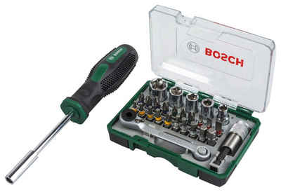 BOSCH Bit-Set, 27-St., Mini-Ratschen-Set + Handschraubendreher