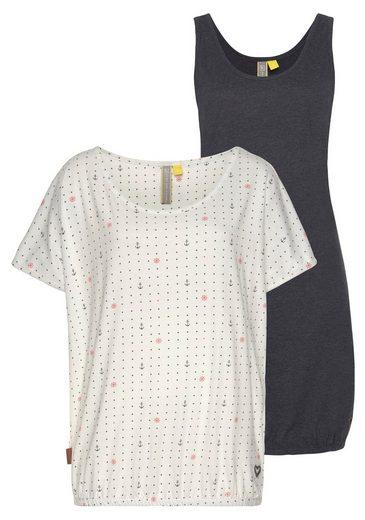 Alife & Kickin Jerseykleid »SunnyAK« (Set, 2-tlg., mit T-Shirt) sommerliches Kleid in raffinierter 2-in-1-Optik