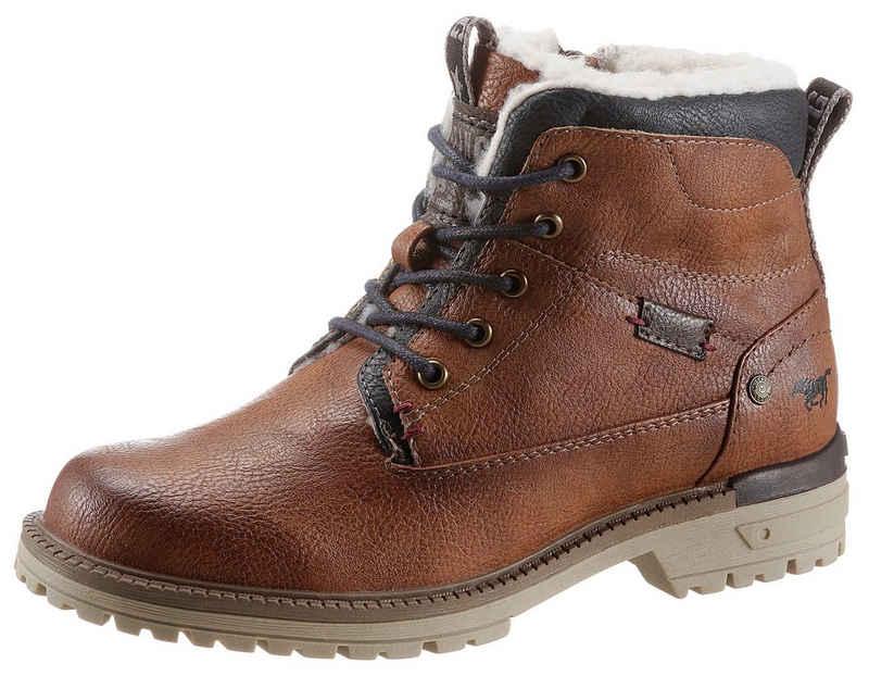 Mustang Shoes Winterboots mit Kontrastbesatz