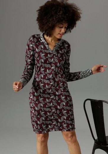 Aniston SELECTED Jerseykleid im Muster-Mix - NEUE KOLLEKTION