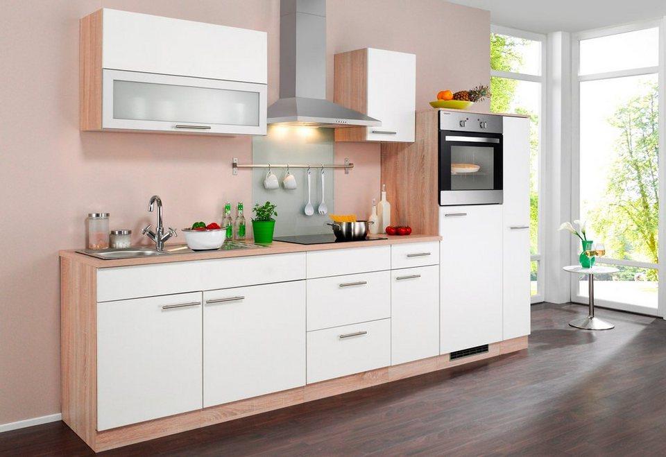 WIHO KÜCHEN Küchenzeile mit E-Geräten »Montana«, Breite 290 cm online  kaufen | OTTO