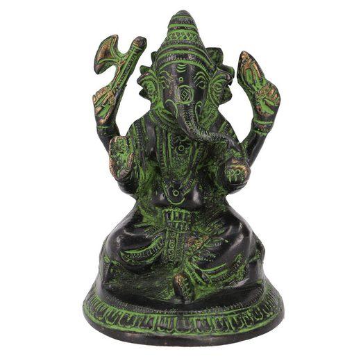 Guru-Shop Dekofigur »Messingfigur Ganesha Statue 11 cm - Motiv 18«