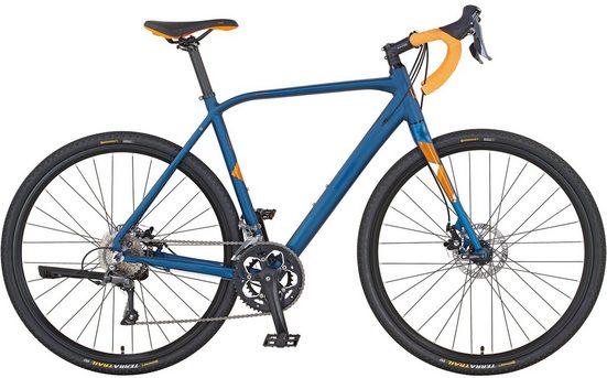 Prophete Gravelbike »RX 21.BTM.10 Gravel Bike«, 16 Gang Shimano Claris Schaltwerk