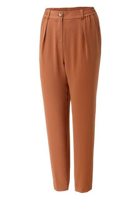Hosen - Aniston CASUAL Bundfaltenhose mit Gummizug hinten und an den Seiten › braun  - Onlineshop OTTO