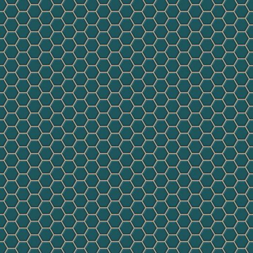 WOW Vliestapete »Hexagon Chic«, geometrisch, (1 St), Grün - 1005x52 cm