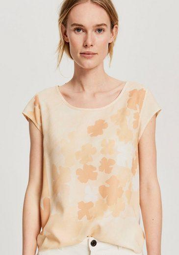 OPUS Shirtbluse »Flinka faded« mit Knopfleiste hinten