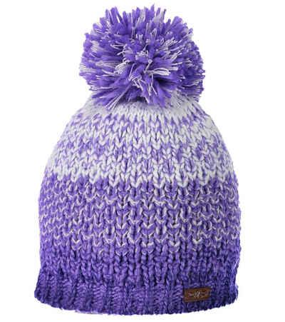 CAMPAGNOLO Beanie »Campagnolo Becky Mütze stylische Damen Strick-Beanie mit Bommel Winter-Mütze Violett«