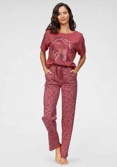 Triumph Pyjama mit Blättermotiv