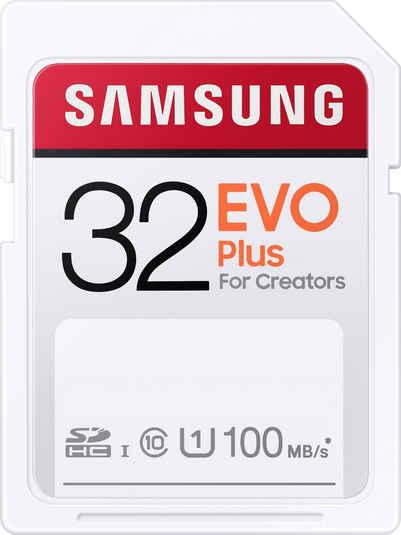 Samsung »EVO Plus 32GB SDHC UHS-I U1« Speicherkarte (32 GB, UHS Class 1, 100 MB/s Lesegeschwindigkeit)