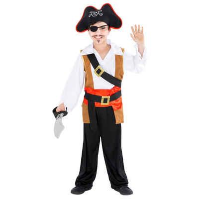 tectake Piraten-Kostüm »Jungenkostüm Kapitän einäugiger Ole«