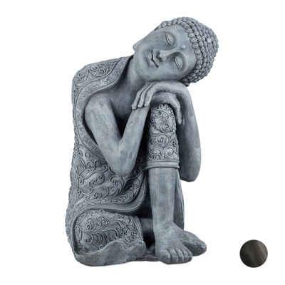 relaxdays Buddhafigur »Buddha Figur geneigter Kopf 60cm«
