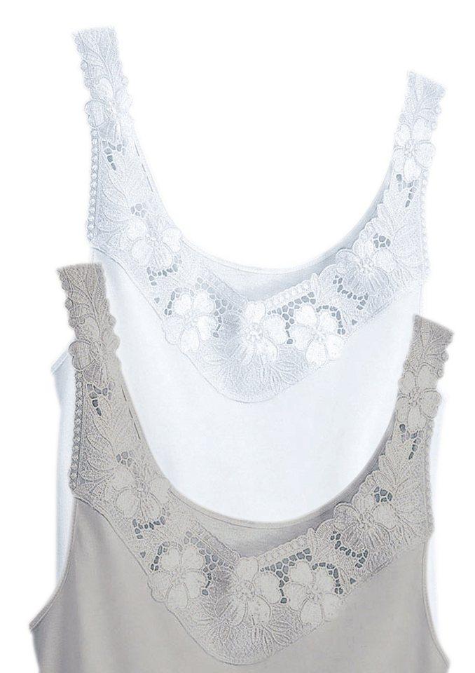 Hemd, Rosalie (2 Stck.) in weiß+silberfarben