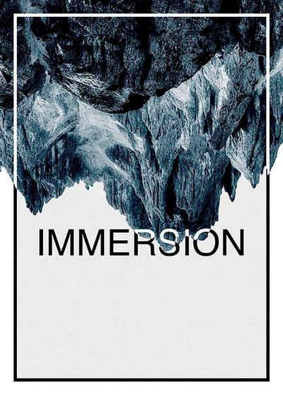 Komar Poster »Immersion Steel«, Abstrakt, Sprüche & Texte, Höhe: 50cm
