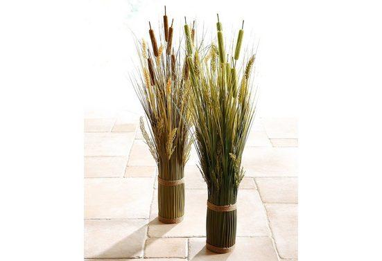 Kunstpflanze »Grasarrangement« Gras, Home affaire, Höhe 80 cm