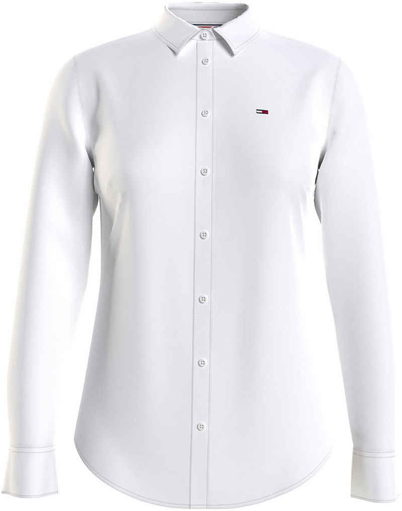 Tommy Jeans Hemdbluse »TJW Slim Fit Oxford Shirt« mitTommy Jeans Logo-Flag