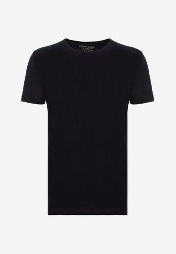Cipo & Baxx T-Shirt mit modernem Rundhalsausschnitt