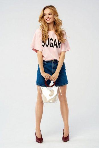 SUGARFREE T-Shirt mit Schriftmotiv