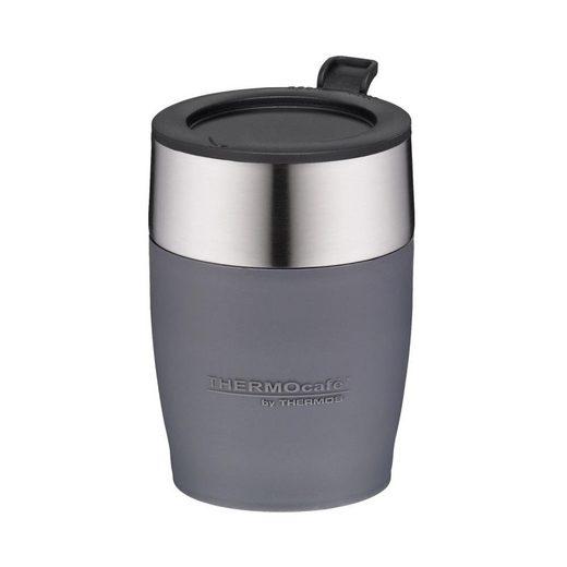 THERMOS Tasse »ThermoCafé DeskCup Grau 0.25 L«, Edelstahl