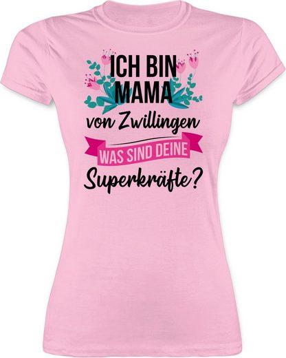 Shirtracer T-Shirt »Ich bin Mama von Zwillingen - was sind deine Superkräfte - Muttertagsgeschenk - Damen Premium T-Shirt«