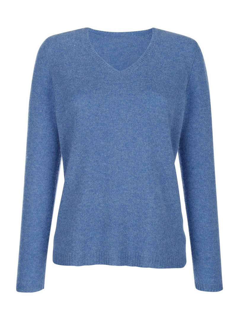 Mona V-Ausschnitt-Pullover aus reinem Kaschmir