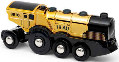 BRIO® Spielzeug-Zug »Goldene Batterielok«, mit Licht und Sound