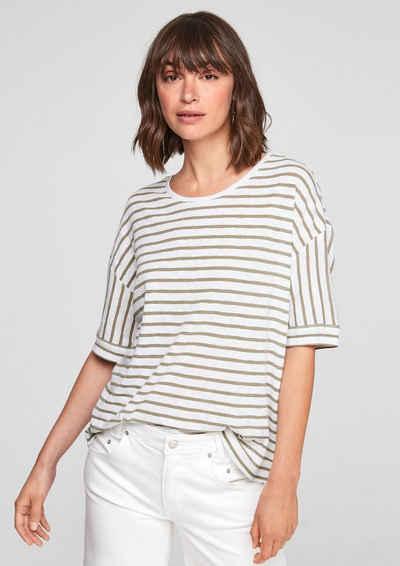 s.Oliver Kurzarmshirt »Shirt mit Streifenmuster« (1-tlg)